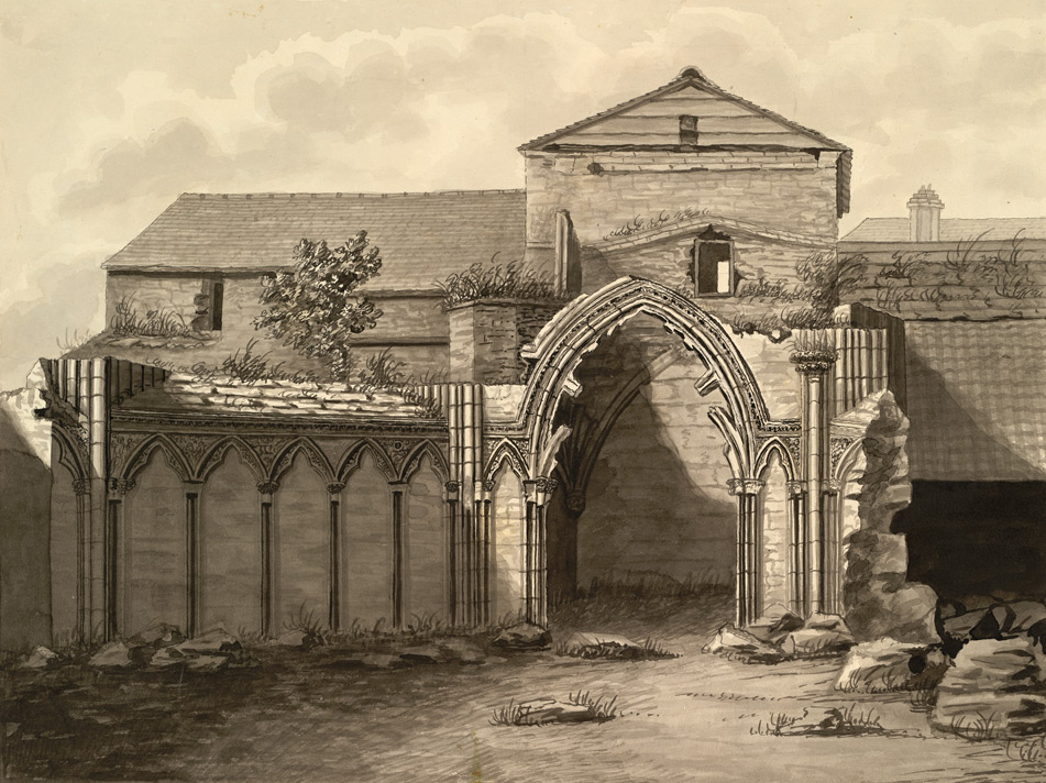 East View of the Remains of the old Chapter House At Hereford